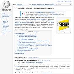 MNEF Mutuelle Nationale des Étudiants de France