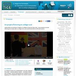 L'Agence nationale des Usages des TICE - Un projet eTwinning en collège rural
