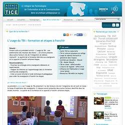 L'Agence nationale des Usages des TICE - L'usage du TBI : formation et étapes à franchir
