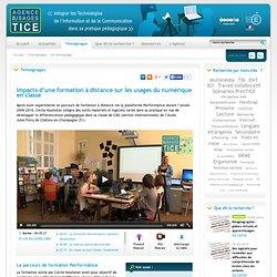 L'Agence nationale des Usages des TICE - Impacts d'une formation à distance sur les usages du numérique en classe
