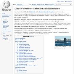 Liste des navires de la marine nationale française