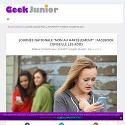 """Journée nationale """"Non au harcèlement"""" : Facebook conseille les ados"""