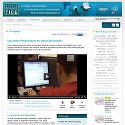 L'Agence nationale des Usages des TICE - Les cartes heuristiques en classe de français