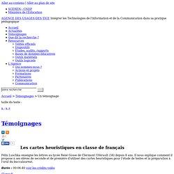 L'Agence nationale des Usages des TICE - Les cartes heuristiques