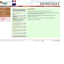 MONUMAT - Base de données nationale des PIERRES ET CARRIERES DES MONUMENTS HISTORIQUES - Recherche d'une pierre