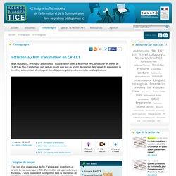 L'Agence nationale des Usages des TICE - Initiation au film d'animation en CP-CE1