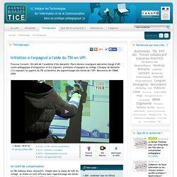L'Agence nationale des Usages des TICE - Initiation à l'espagnol à l'aide du TBI en UPI