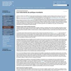 Banque nationale suisse (BNS) - Les instruments de politique monétaire