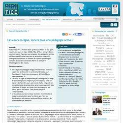 L'Agence nationale des Usages des TICE - Les cours en ligne, leviers pour une pédagogie active ?