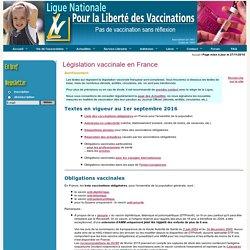 Législation vaccinale en France