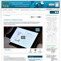 L'Agence nationale des Usages des TICE - Littérature et tablettes tactiles