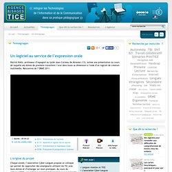 L'Agence nationale des Usages des TICE - Un logiciel au service de l'expression orale