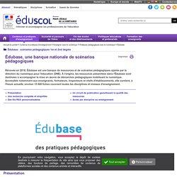 Édubase - Édubase, une banque nationale de scénarios pédagogiques