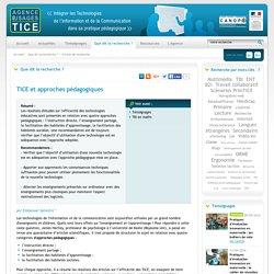 L'Agence nationale des Usages des TICE - TICE et approches pédagogiques