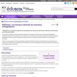 ÉDU'bases (scénarios pédagogiques 2nd degré) -