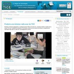 L'Agence nationale des Usages des TICE - Produire une émission radio avec les TICE