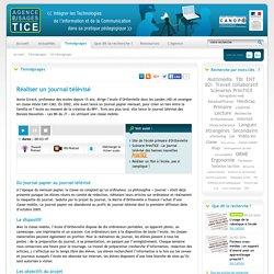 L'Agence nationale des Usages des TICE - Réaliser un journal télévisé
