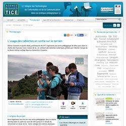 L'Agence nationale des Usages des TICE - L'usage des tablettes en sortie sur le terrain