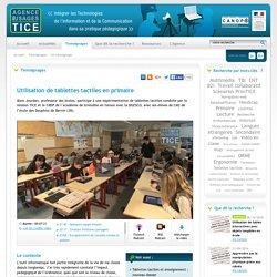 L'Agence nationale des Usages des TICE - Utilisation de tablettes tactiles en primaire