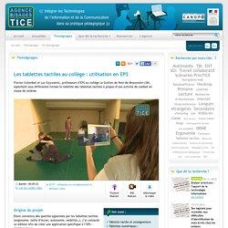 L'Agence nationale des Usages des TICE - Les tablettes tactiles au collège : utilisation en EPS