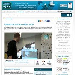 L'Agence nationale des Usages des TICE - Utilisation de la vidéo en différé en EPS