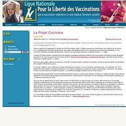 Vaccinations : Le Projet Cochrane