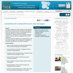 L'Agence nationale des Usages des TICE - Les bénéfices de la visioconférence en classe de langues