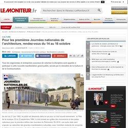1ères Journées nationales de l'architecture du 14 au 16 octobre - 31/08/16