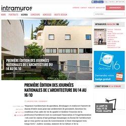 Première édition des Journées nationales de l'architecture du 14 au 16 octobre 2016 - 06/10/16