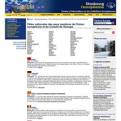 Fêtes nationales des pays membres de l'UE et du Conseil de l'Europe
