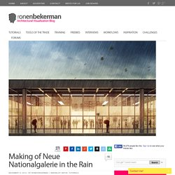 Making of Neue Nationalgalerie in the Rain