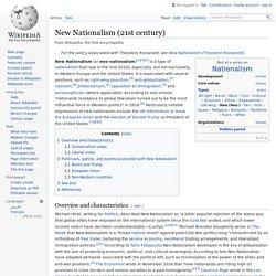 New Nationalism (21st century) - Wikipedia