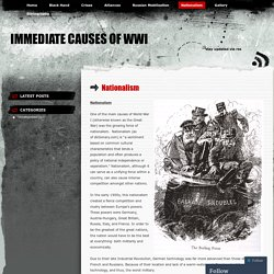 Immediate Causes of WWI