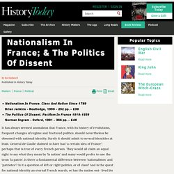Nationalism In France; & The Politics Of Dissent