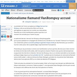 Nationalisme flamand: Van Rompuy accusé