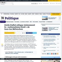 Cécile Duflot critique le « nationalisme étroit » de Jean-Luc Mélenchon