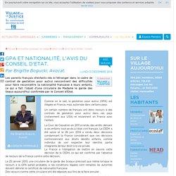 GPA et Nationalité, l'avis du Conseil d'Etat. Par Brigitte Bogucki, Avocat.