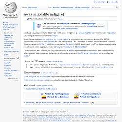 Awa (nationalité indigène)
