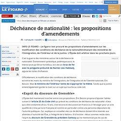 France : Déchéance de nationalité : les propositions d'amendements