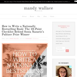 How to Write a Nationally Bestselling Book: 10-Point Checklist