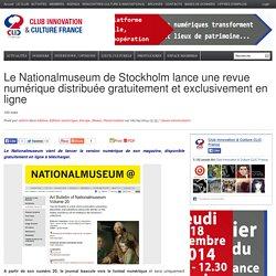 Le Nationalmuseum de Stockholm lance une revue numérique distribuée gratuitement et exclusivement en ligne