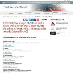 Page web : Pôles Nationaux des Arts du Cirque (PNAC)