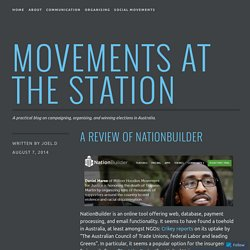 A review of NationBuilder – Movements at the Station