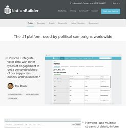 NationBuilder software features for political campaigns