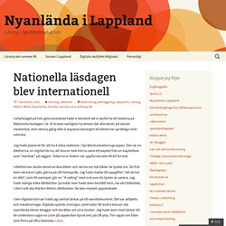 Nationella läsdagen blev internationell