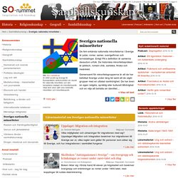 Sveriges nationella minoriteter