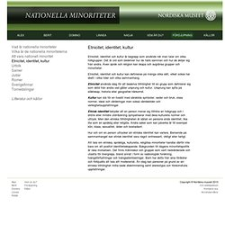 Nationella minoriteter - Nordiska museet