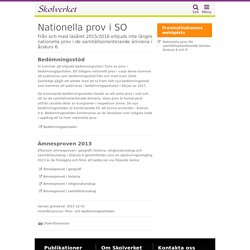 Nationella prov i SO i årskurs 6