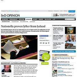 Nationella proven lyfter fram lydnad