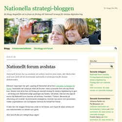 Nationella Strategi-bloggen